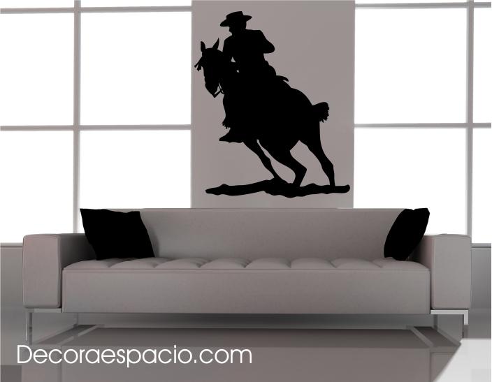 Vinilo caballo y jinete