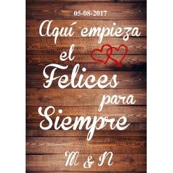 Cartel de Fiesta felices Para Siempre