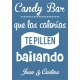 Cartel de Fiesta Candy Bar