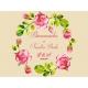 Cartel de Fiesta flores Rosas